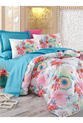 Cotton Box Saten Uyku Seti Çift Kişilik - Rainbow Mint
