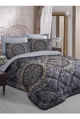 Cotton Box Royal Saten Uyku Seti Çift Kişilik - Elenor Siyah