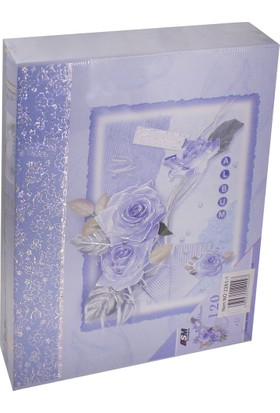 Mavi Renk Kutulu 120'lik 10x15 cm Fotoğraf Albümü
