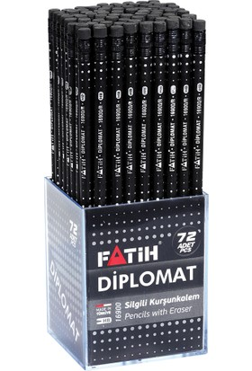 Fatih Siyah Lata Silgili Diplomat Kurşun Kalem 72'Li