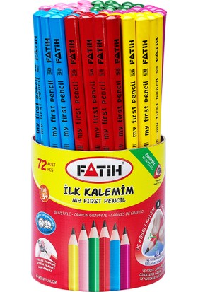Fatih Jumbo Üçgen Başlangıç Kalemi Renkli Kurşunkalem 72'Li