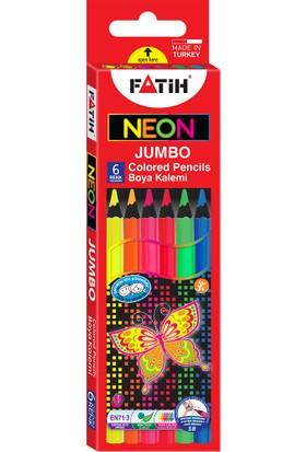 Fatih Neon Jumbo Kuruboya 6 Renk Tam Boy (Grafit Çapı:5)