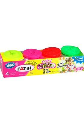 Fatih Mini Oyun Hamuru 4 Renk (Neon)