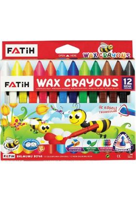 Fatih Üçgen Crayon 12 Renk Jumbo ( Mum Boya )