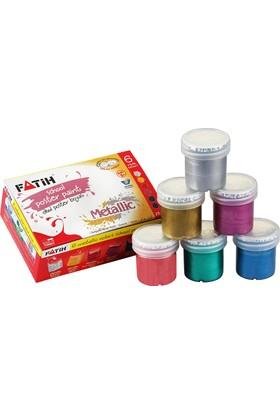 Fatih Guaj Boyası Metalik 6 Renk (6*25=150Ml)