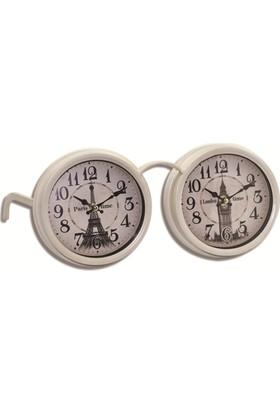 Time Gold İkiz Masa Saati-17*20*33cm