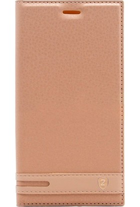 CoverZone Xiaomi Redmi 4A Elite Kapaklı Kılıf - Altın