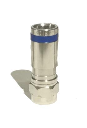 Atlanta RG6 Sıkmalı F Konnektör (2 Adet - Mavi)