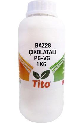 Tito Baz28 Çikolatalı Mono Propilen Glikol Bitkisel Gliserin Karışımı 1 kg