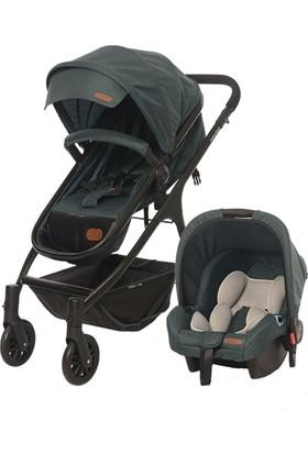 Baby2Go 8046 Caromio Travel Sistem Bebek Arabası Yeşil