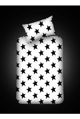 Eponj Home B&W Lastikli Çarşaf Seti Tek Kişilik BigStar