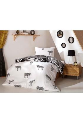 Eponj Home B&W Nevresim Takımı Tek Kişilik Zebra