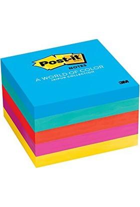 3M Post-it Yapışkanlı Not Kağıdı Küp Ultra 5 Renk 76x76 654-5UC 5'li Paket