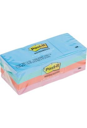 3M Post-it Yapışkanlı Not Kağıdı Pastel 4 Renk 34,9x47,6 653-AU 12'li Paket