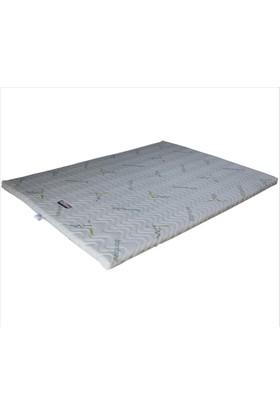 Gelişim Yatak Lateks Ped 4 Cm Fermuarlı Bamboo Örme Kumaşlı Yatak Pedi Şiltesi