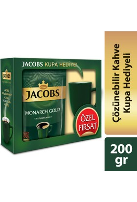 Jacobs Monarch Gold 200 gram Kupa Hediyeli !