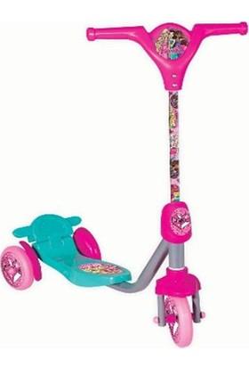 Barbie 3 Tekerlekli Frenli Kız Çocuk Scooter