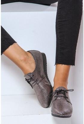 Shoes Time Kadın Ayakkabı Platin 17K 306
