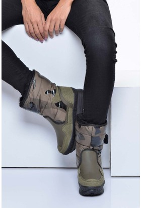 Shoes Time Kadın Bot Yeşil 17K 1010