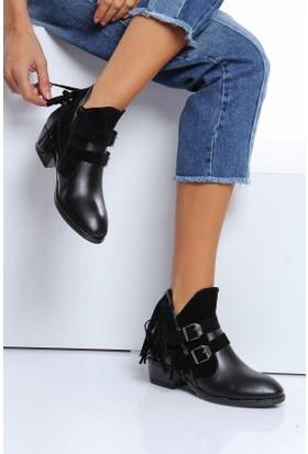 Shoes Time Kadın Bot Siyah 17K 104