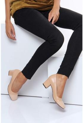 Shoes Time Kadın Topuklu Ayakkabı Ten 17K 3422