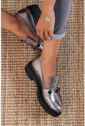 Shoes Time Kadın Ayakkabı Platin 17K 315