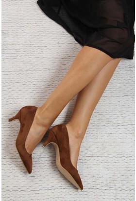 Shoes Time Kadın Topuklu Ayakkabı Taba 17K 1952