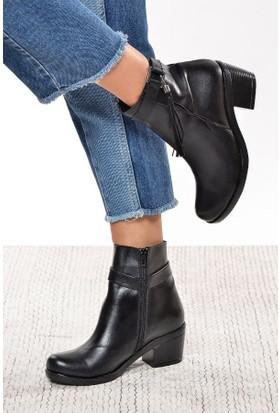 Shoes Time Kadın Bot Siyah 17K 5603