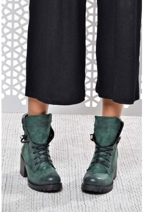 Shoes Time Kadın Bot Yeşil 17K 220K