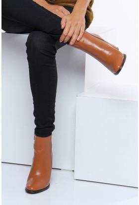 Shoes Time Kadın Topuklu Bot Taba 17K 1407