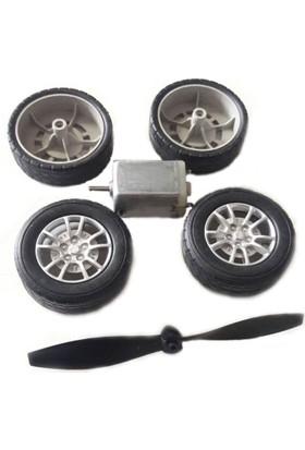Ece Tekerlek Pervane Motor Seti 12 Adet Tekerlek 3 Adet Pervane 3 Adet Motor