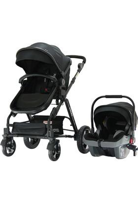 Yoyko Luxury Seyahat Sistem Bebek Arabası 3 İn 1 Siyah - Siyah
