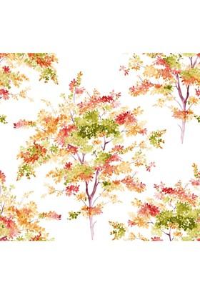 Mot Çiçekli Vinyl Duvar Kağıdı 15-007002