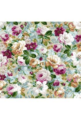Mot Çiçekli Vinyl Duvar Kağıdı 15-003702