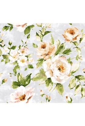 Mot Çiçekli Vinyl Duvar Kağıdı 15-005303