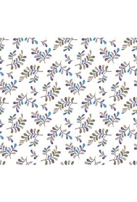 Mot Çiçekli Vinyl Duvar Kağıdı 15-007804