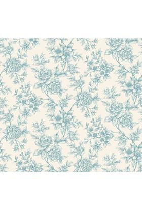 Mot Çiçekli Vinyl Duvar Kağıdı 15-006504