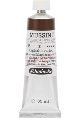 Schmincke Mussini Yağlı Boya 35ml. Seri 1 N:645 Asphaltum Black
