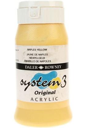 Daler Rowney System 3 Akrilik Boya 500ml - Naples Yellow 634
