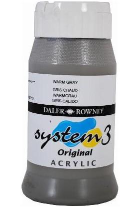 Daler Rowney System 3 Akrilik Boya 500ml - Warm Grey 078