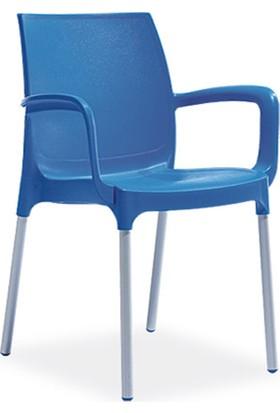 Novussi Sunset Model 4 Adet Sandalye (Mavi Renk)