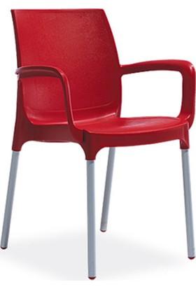 Novussi Sunset Model Sandalye 6 Adet (Kırmızı Renk)