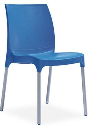 Novussi Sunny Model Sandalye 6 Adet (Mavi Renk)