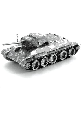3D Boyutlu Lazer Kesim Maket T-34 Tank