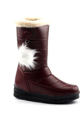 Twingo 990 Bordo Kar Çizme Bayan Bot Ayakkabı