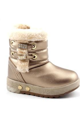 Twingo 9062 Altın Işıklı Kız Çocuk Bot Ayakkabı
