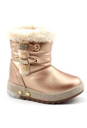 Twingo 9062 Bakır Işıklı Kız Çocuk Bot Ayakkabı