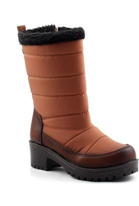 Jump 17264 Taba Kar Kış Kız Çocuk Bot Ayakkabı