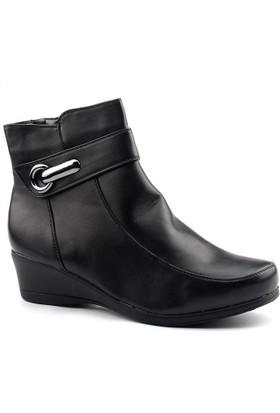 Siber 4005 Siyah Büyük Numara Bayan Bot Ayakkabı