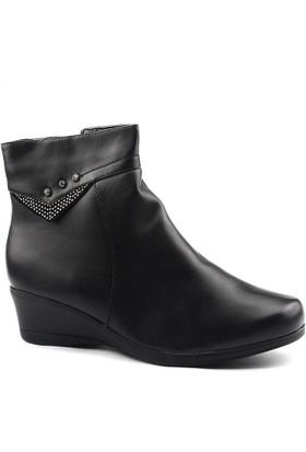Siber 4010 Siyah Büyük Numara Bayan Bot Ayakkabı